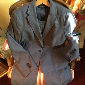 Talbot's blue suit